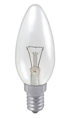 1 2 5 10 PACK Clear SES Candle 25W 40W 60W E14 SES Incandescent BULB WARM  • 9.89£