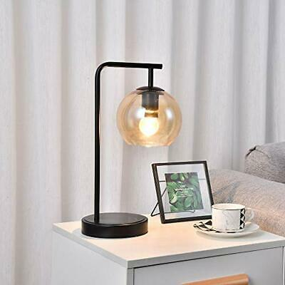 SEVETILKA Vintage Bedside Table Luminaire Lamp Unique Smoky-Gray Glass Lampshade • 40.99£