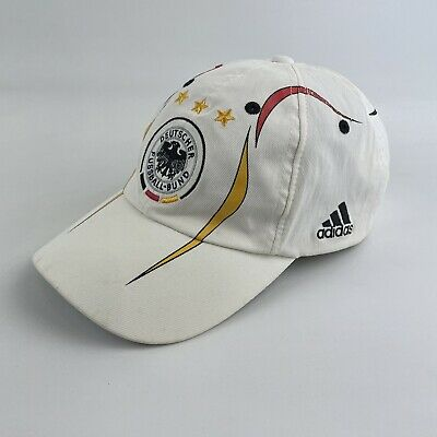 Adidas Germany Football Baseball Cap Strap Back 2005 Embroidered White Soccer • 16.99£