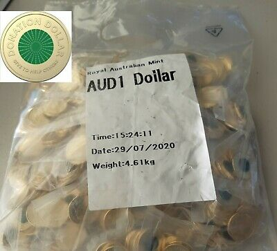 AU850 • Buy Australian $1 2020 Donation Coin Jumbo Mint Bag 500 Coins Uncirculated