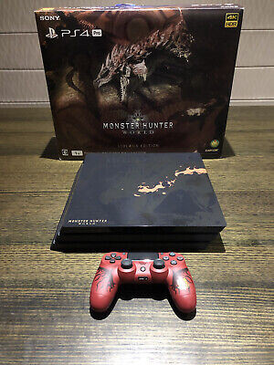AU700 • Buy Ps4 Pro Monster Hunter World Limited Edition Rathalos 1TB- Immaculate Condition