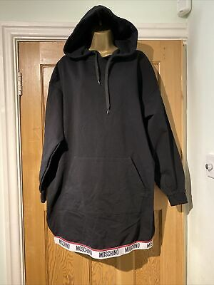 $ CDN166.57 • Buy Moschino Hoodie Dress Black Size M Underwear Logo Hem BNWOT