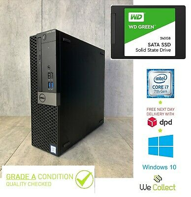 Dell OptiPlex 9020 Core I7 4790 3.60GHz 8GB Ram  HDD Win 10 SFF PC NEW 240gb SSD • 220£