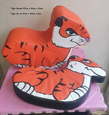 £99.99 • Buy Tiger Rocker And Tiger Sit On Commercial Soft Play Pieces