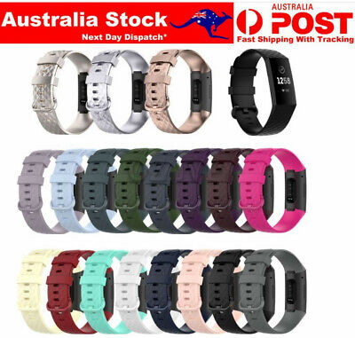 AU4.45 • Buy Fitbit Charge 3 4 SE Watch Band Strap Replacement Wristband Soft Silicone Strap