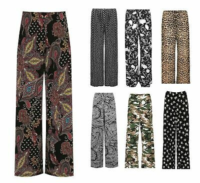 £13.70 • Buy New Womens Plus Size Palazzo Trousers Ladies Baggy Wide Leg Stretch Pants 12-26