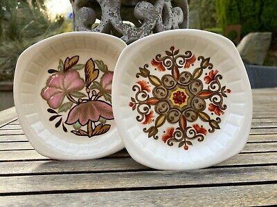 £7.50 • Buy Royal Worcester Palissy Set Of 2 Butter Dishes