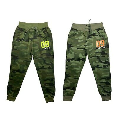 £7.99 • Buy Boys Joggers Jogging Bottoms Kids Camo Camouflage Army Tracksuits Sports Girls