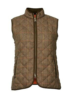 Laksen Ladies Blair Tweed Quilted Vest Size 10 /S • 179£
