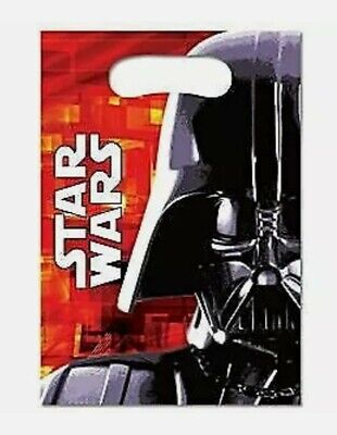 £1.66 • Buy 6 Pack Star Wars Darth Vader Plastic Party Loot Bags Childrens Birthday Parties