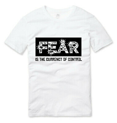 £11.99 • Buy Fear Is The Currency Of Control Conspiracy Anti NWO V2 T Shirt White