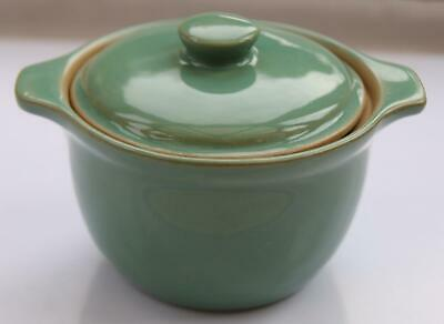 VINTAGE Denby Stoneware MANOR GREEN Individual Casserole Dish / Lidded Soup Bowl • 10.99£