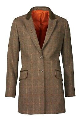 Laksen Ladies Blair Tweed Top Coat Size 10 /S • 195£