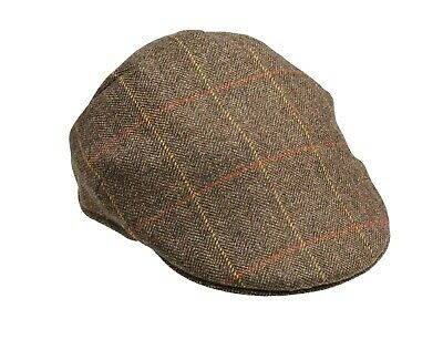 Laksen Ladies Blair Tweed Flat Cap Size 56 • 35£