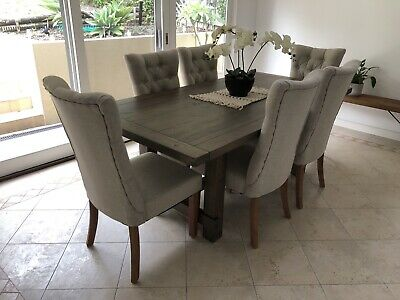 AU1350 • Buy Amart Winslow Dining Table With 6 Nottingham Chairs