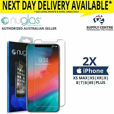 AU13.95 • Buy IPhone 11 PRO XS Max XR 8 7 6S 6 Plus -2X NUGLAS Tempered Glass Screen Protector