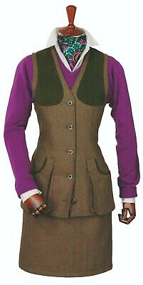 Laksen Ladies Tyne Tweed Shooting Vest Size 12/M • 135£