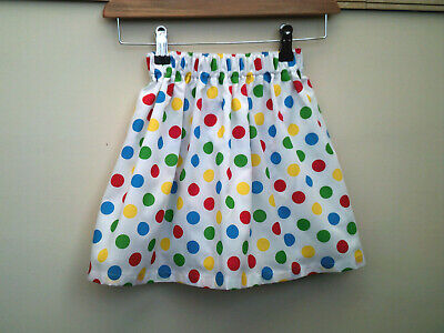 Handmade Girls Skirt/Multi Polka Dot/Fully Lined/Polycotton/New/2-3 Years • 8.99£