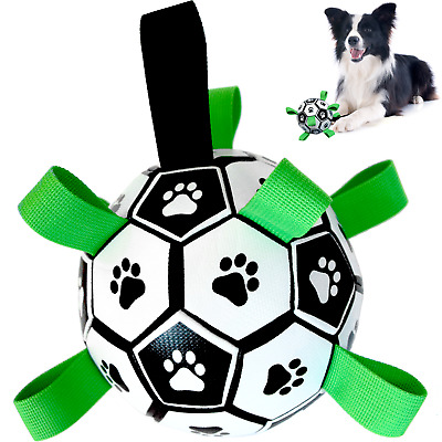 £14.89 • Buy Dog Toys, Dog Football, Interactive Fetch Toy With Tabs For Outdoor Water Sports