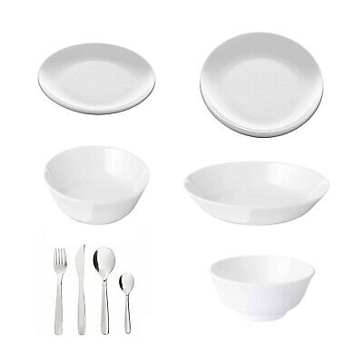 £9 • Buy Ikea FLITIGHET, Dinner Plates, Side/Deep Plates And Bowls, [Make Your Own Set]