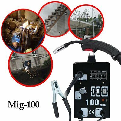 Commercial/Home MIG 100 Gasless Flux Core Wire Welding Machines 230V Welder Kits • 83.69£