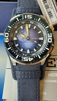 $ CDN746.76 • Buy NOS SEIKO SSA147 Blue Monster Watch Limited Superior 4R36 Automatic Nylon