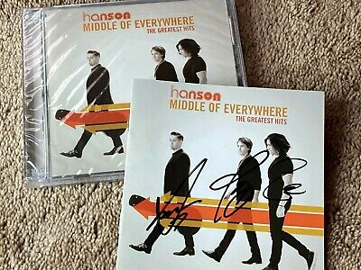 $ CDN423.88 • Buy HANSON Band Signed GREATEST HITS CD By 3 W/ AUTOGRAPHED COVER Zac TAYLOR Isaac