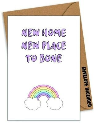 FUNNY New Home Card Congratulations Rude Adult Comedy Joke Cheeky Banter /GR • 2.99£