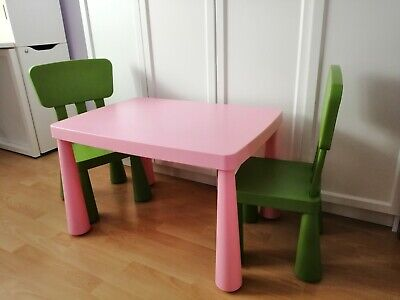 Ikea Chidren's Table With 2 Chairs (Mammut Series)   • 15£