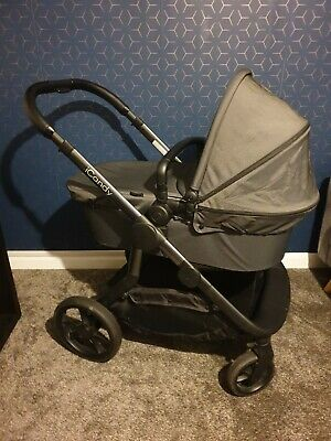 ICandy Orange Twin Pushchair & Car Seat - Full Travel System - Charcoal • 450£
