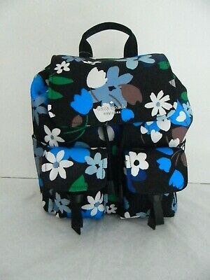 $ CDN99 • Buy Nwt Kate Spade New York Carley B Floral Multi  Blooms Flap Backpack Wkr00321