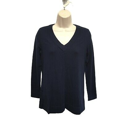 $69.95 • Buy Vineyard Vines Navy Blue Pullover Cashmere Sweater XXS Bust 34  May Fit S