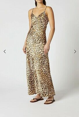 AU390 • Buy SCANLAN THEODORE Silk Leopard Slip Dress - Current Sold Out Style - Size 8