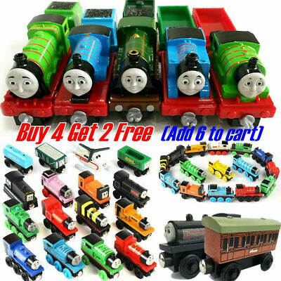The Tank Engine Tender Wooden Toys Magnetic Railway Train Truck Cars Kids Gift、 • 4.09£
