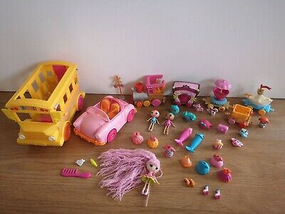 Lalaloopsy Littles Mini Train School Bus Car Figures With Outfits • 20£