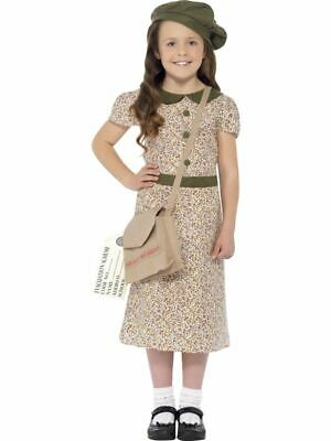 Evacuee Girl Costume, Large Age 10-12, Girls Fancy Dress • 9.99£