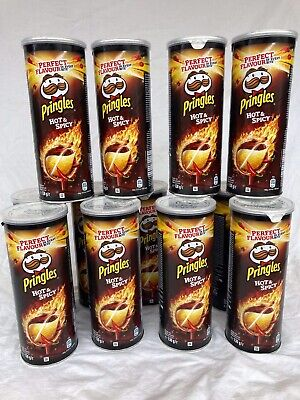 Pringles Hot And Spicy 8x130g Tubes Best Before 01/21 Yes You Get 8 Tubs • 6.95£