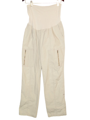 £20.15 • Buy A Pea In The Pod Maternity Large Wheat Brown Cargo Straight Pant Womens Trouser