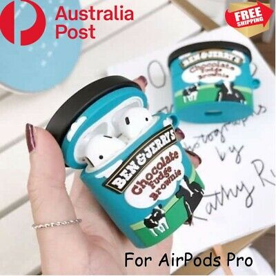AU18.95 • Buy Apple Airpods 1 2 Shockproof Soft Silicon Case Cover Funny Airpod Ben & Jerry
