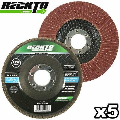 £6.98 • Buy 5 X FLAP DISC 115mm Sanding Paint Rust Stripper Remover Disk Angle Grinder Wheel