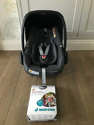 Maxi-cosi Pebble Pro I-size Car Seat - Sparkling Grey - With Rain Cover • 75£