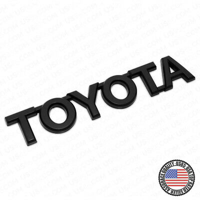 $13.99 • Buy For Toyota Matte Black Letter Trunk Lid Liftgate Tailgate Emblem Badge Logo