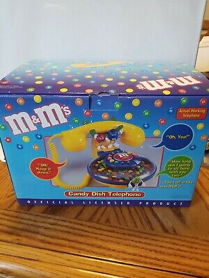 $79.99 • Buy Rare And Vintage M & M Candy Dish Telephone Brand New In Box M And M Collectible