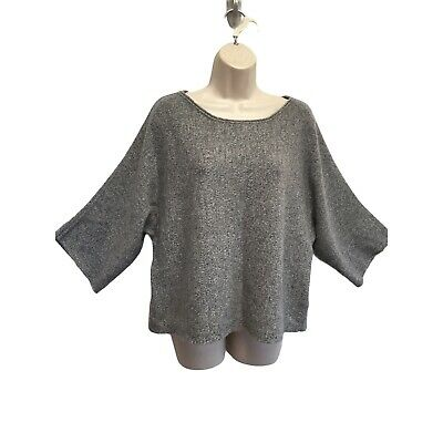 $71 • Buy Banana Republic 100% Cashmere Boxy Sweater 3/4 Wide Sleeves XL NEW May Fit L