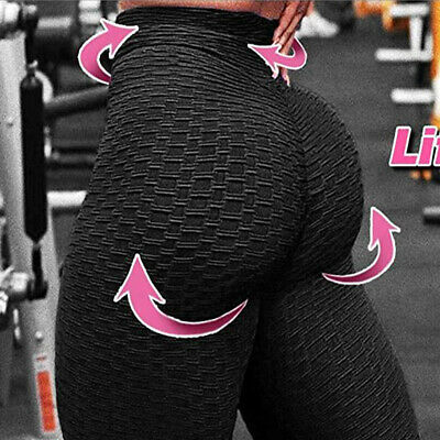 Women Anti Cellulite High Waist Pants Yoga Gym Leggings Elastic Fitness Trouser • 6.99£