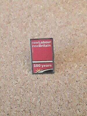 100 Years Labour Party - New Labour New Britain Political Party Enamel Pin Badge • 4.25£