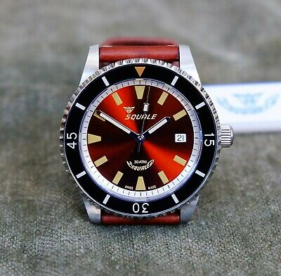 $ CDN777.68 • Buy Squale Montauk MTK-05 Rootbeer Automatic Diver's Watch Swiss Made Sellita [New]