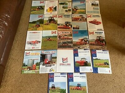 £4 • Buy Lely Farm Machinery Tractor Implements Brochures X 22 Joblot