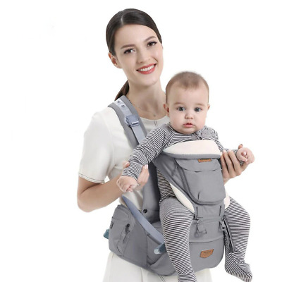 Ergonomic Infant Baby Carrier With Hip Seat Adjustable Wrap Sling Stool Backpack • 44.13£