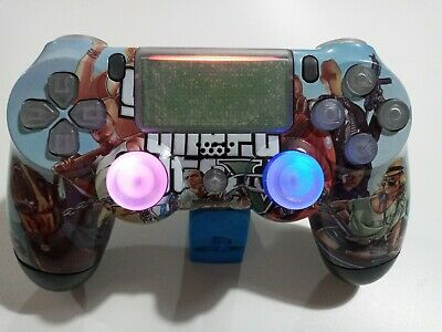 AU124.30 • Buy GTA 5 Grand Theft Auto 5 Custom PS4 V2 Controller Limited Edition Modified LEDs